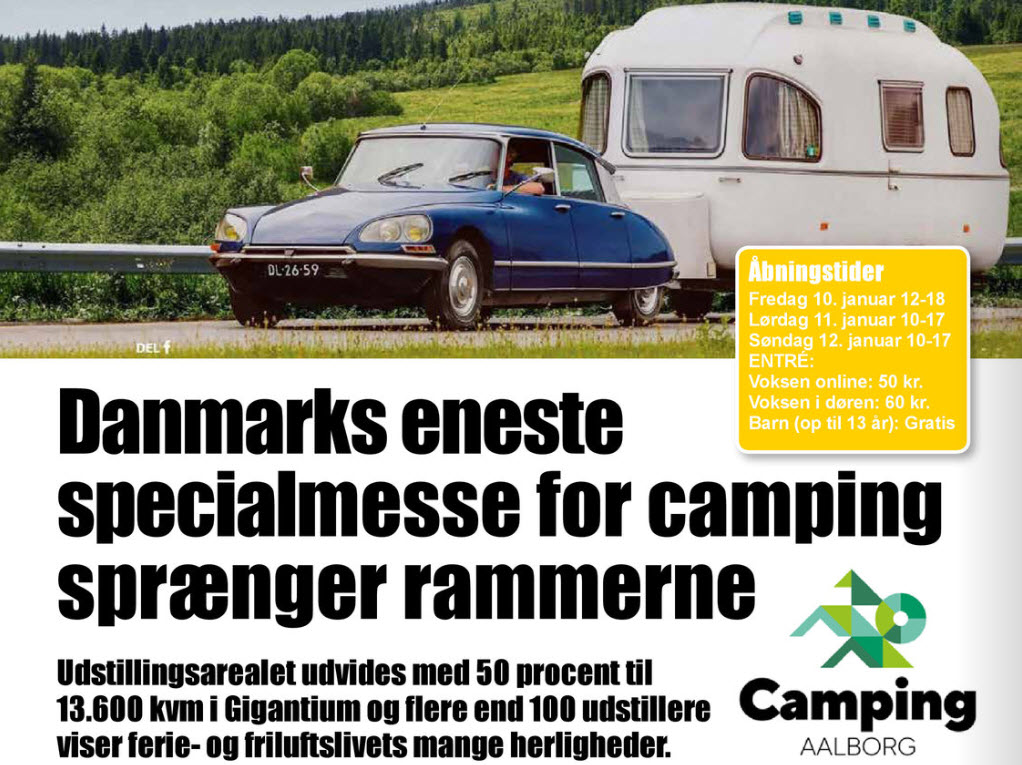 Camping Aalborg - Danmarks store specialmesse med alt inden for camping